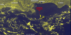 Deepwater Horizon Satellite Image Smoke