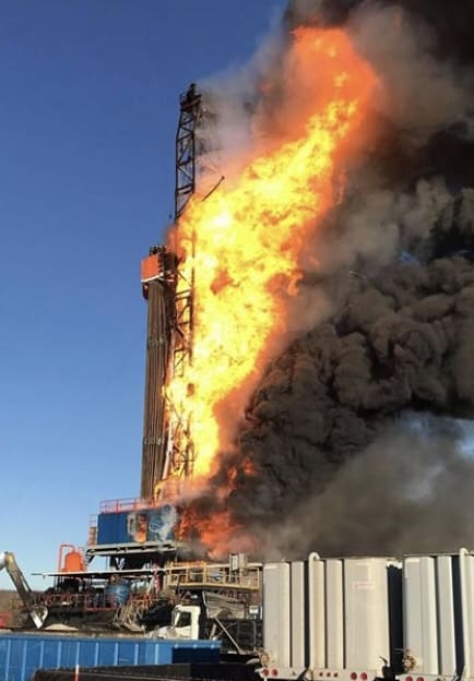 Pryor Trust Gas Well fire